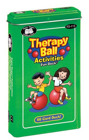 Therapy Ball Activities Fun Deck