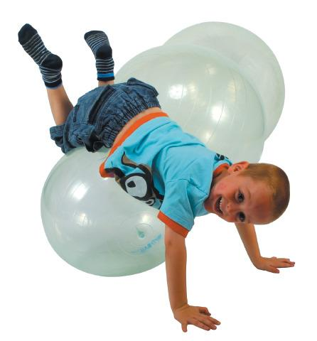 Transparent Therapy ball:- Size: Large