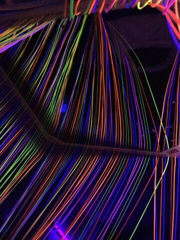 Fibre Optic, UV Waterfall, Ceiling Suspended