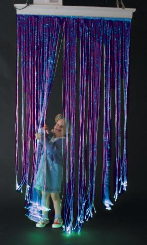 Fibre Optic, Moveable Arm Curtain