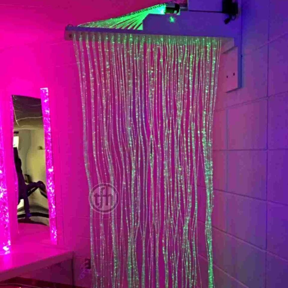 Fibre Optic Curtain, Rainbow Sparkle, wall mount