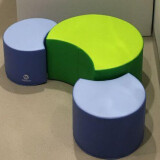 Positioning Pouffe, Group Seating Set