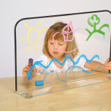Clear Acrylic Corral or Desktop Panel