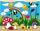 Flower Garden Play, Tactile Wall Panel, Wide