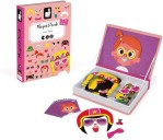 Girl's Crazy Face Magnetic Book