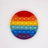 Round Rainbow-Pop Fidget Toy