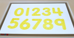 Silishapes® Trace Numbers - See Through Learning Numbers