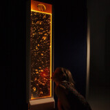 """Colour Changing Mirrored Bubble Wall ~ 48"""" High"""