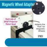 Projector Accessory, Magnetic Wheel Adapter