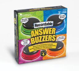 Recordable Answer Buzzers - Set of 4