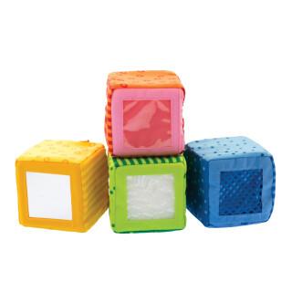 Happy Quartet Auditory Fabric Cubes