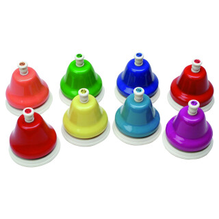 Sensory Kidsplay Deskbell Set, 8 Colourful Bells