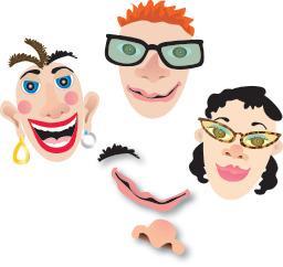 Wonderboard Magnet Set: Make a Face