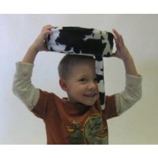 Senseez Furry Cow Print Vibration Seat