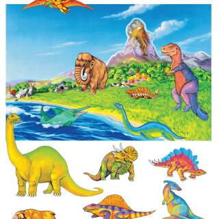 Dinosaurs with Background Felt Set