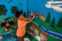Transportation, Tactile Wall Panel, Narrow