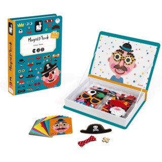 Boy's Crazy Face Magnetic Book