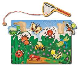 Magnetic Bug Catching Game Puzzle
