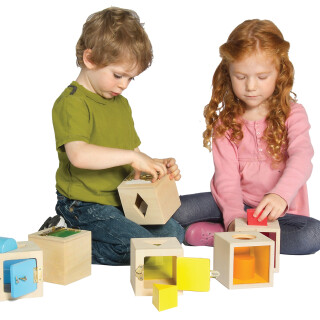 Peekaboo Lock Boxes - Development Sensory Toy