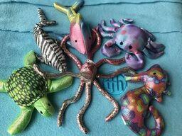 Sand Animals Weighted Sealife Set