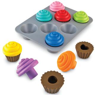 Shape Sorting Cupcakes