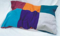 Weighted Tactile Pillow with 6 different Coloured Materials