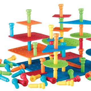 Tall-Stackers™ Peg Building Set