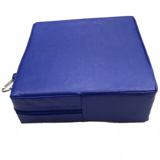 Blue Square - Vinyl Pillow