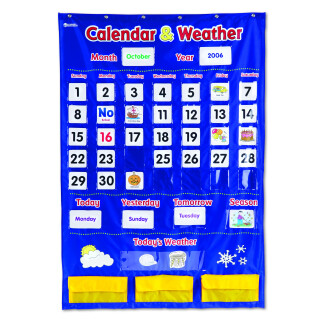 Calendar & Weather Pocket Chart - LIMITED SUPPLY