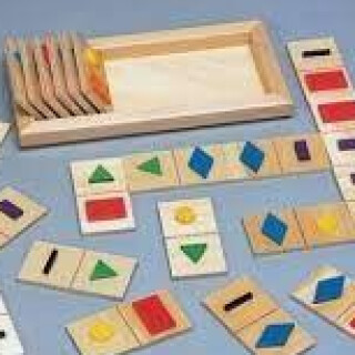 21 Wooden Domino Shapes for Matching