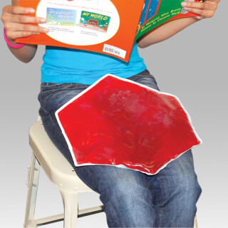 Weighted Hexagon Lap Pad - Red