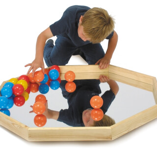 Play Tray with Mirror and Balls
