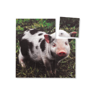 Magna Square Puzzles Pig  - LIMITED SUPPLY