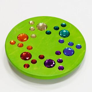 Vrtljivi pokrov z dragulji - Zelen