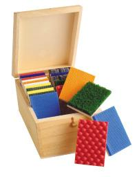 Tactile Box - 10 Pairs - Wood-backed Materials