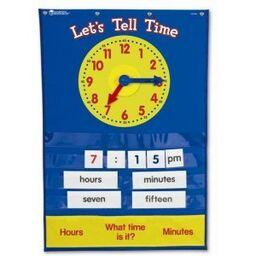 Tell Time Pocket Chart