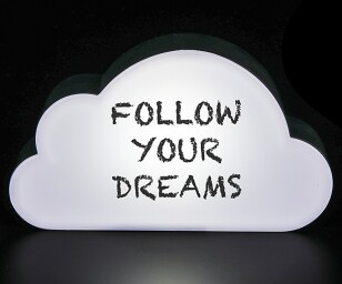 Light-Up Cloud Message Board