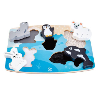 Tactile Polar Animal Puzzle Game