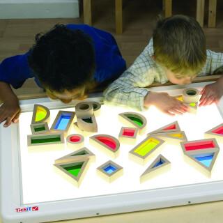 Light Table, Rainbow Blocks
