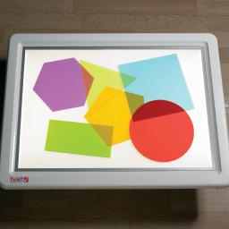 Light Table, Rainbow Shapes Large