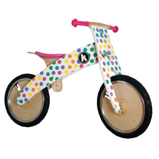 Wooden Kurve Balance Bike, Pastel
