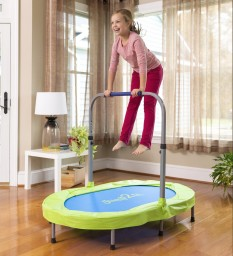 JUMP2iT® Adjustable Trampoline with Folding Handle