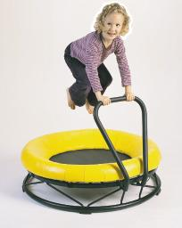 Padded Indoor Trampoline with Handlebar