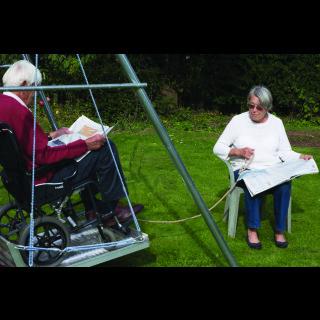 Wheelchair Platform Swing with Frame