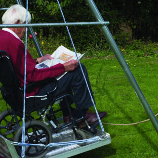 Wheelchair Platform Swing & Frame