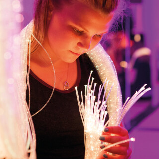 Fibre Optic Tails, Regular or Interactive, Clear