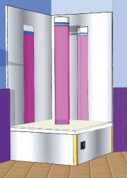 Bubble Column Podium For Sensory Rooms