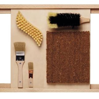 Bristle Brushes Sensory Wall Activity Panel