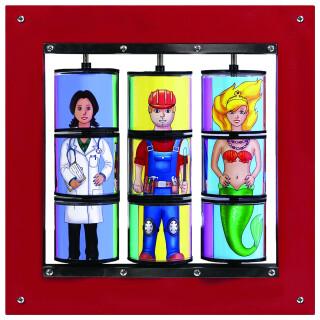 Funny People Twister Panel - Development Sensory Toy
