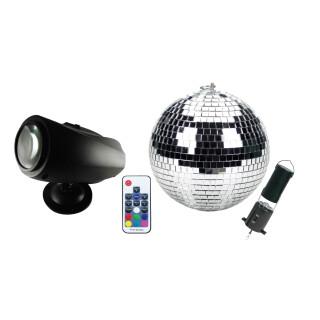 Mini Mirror Ball Set - Moving Sensory Light
